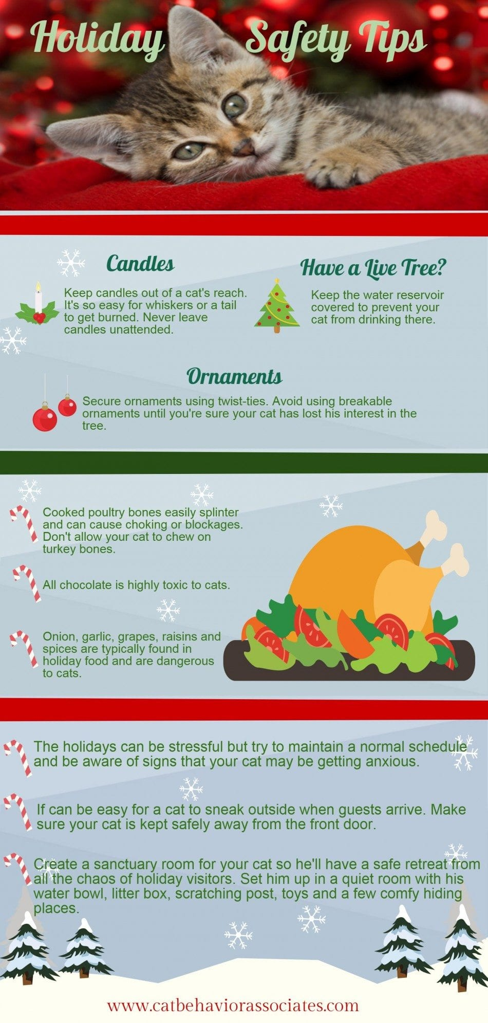 Christmas safety infographic